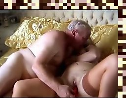 old maqture couple having sex